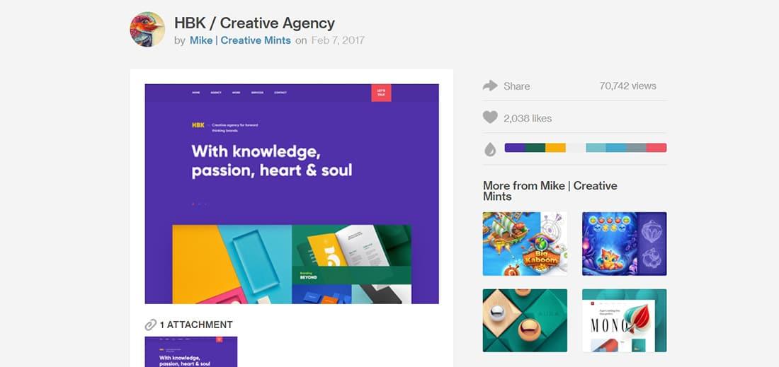HBK Creative Agenc Creative Navigation Menus