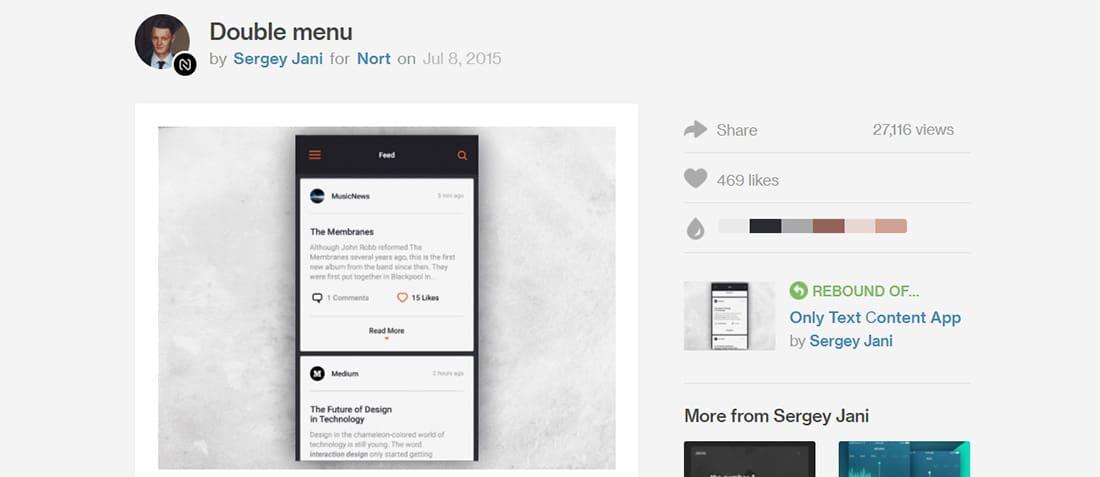Double menu Creative Navigation Menus