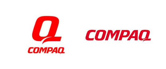 compaq rebranding logo