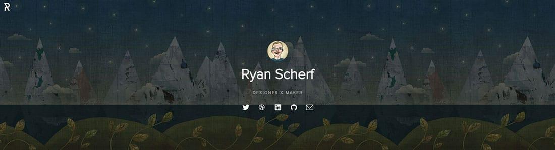 ryanscherf.net WordPress Header Designs