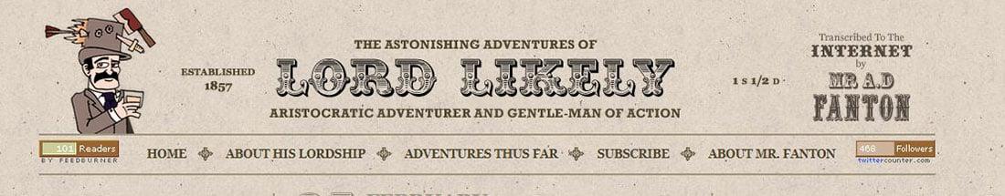 lordlikely.com Header Design