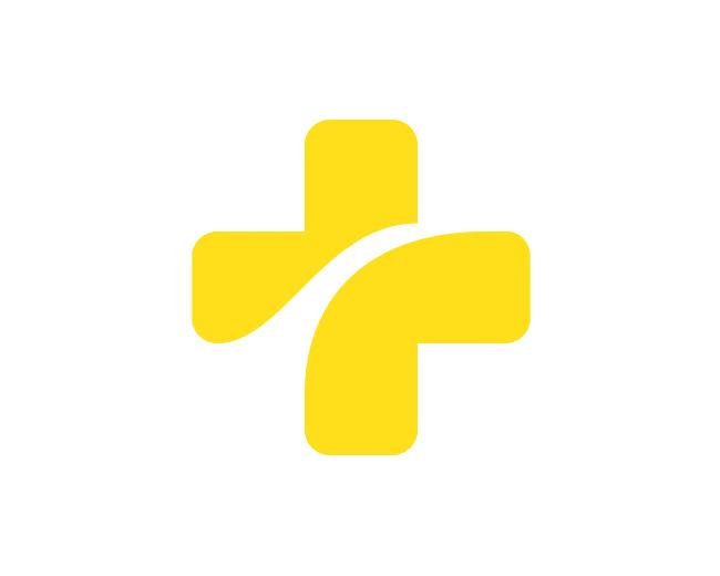 wit-gele kruis Clever Logo Designs