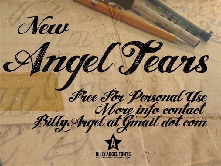 Angel Tears Tattoo Fonts