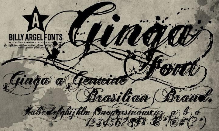 Ginga Tattoo Fonts