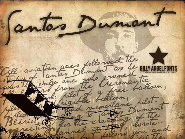 Santos Dumont Tattoo Fonts