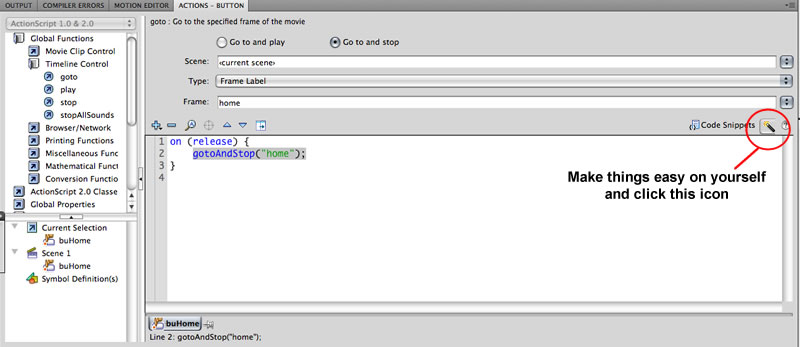 Flash website tutorial, Step 11