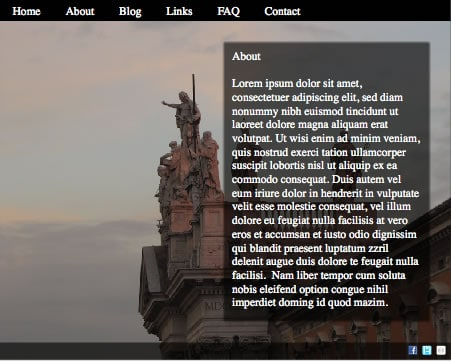 Simple Flash website