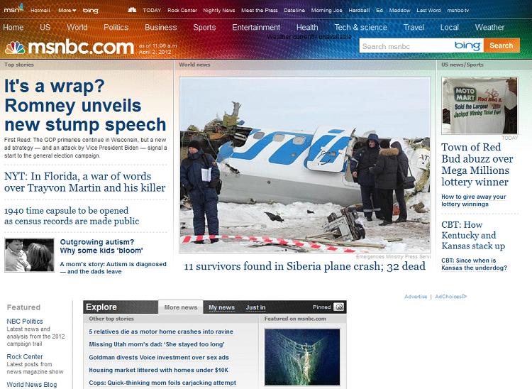 msnbc News Sites