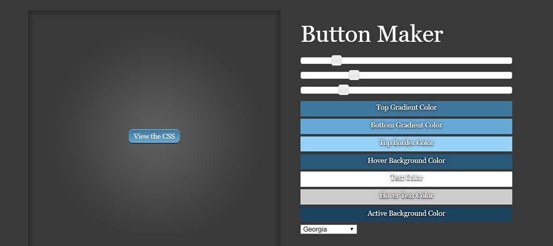 Button Maker Web Design Tools
