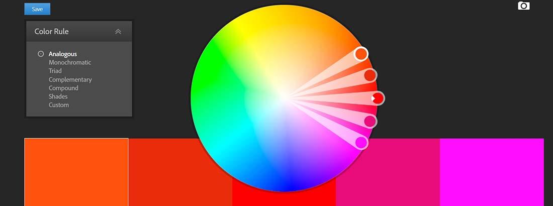 Color wheel Web Design Tools