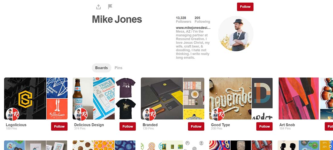 Pinterest Web Designers to Follow on Pinterest
