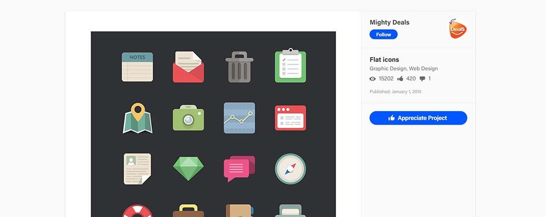 Flat icons on Behance