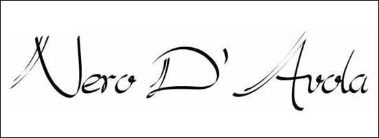 Nero D'Avola Calligraphy Font
