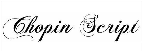 Chopin Script Calligraphy Font