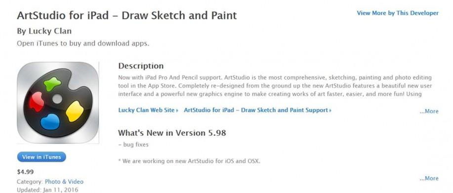 ArtStudio iPad Apps for Designers