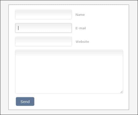 Design a Prettier Web Form with CSS 3