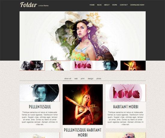 Folder free html template