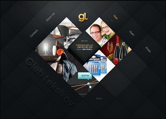 Designergleb web design angled inspiration