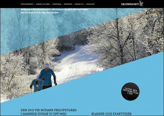 Skidpasset web design angled inspiration