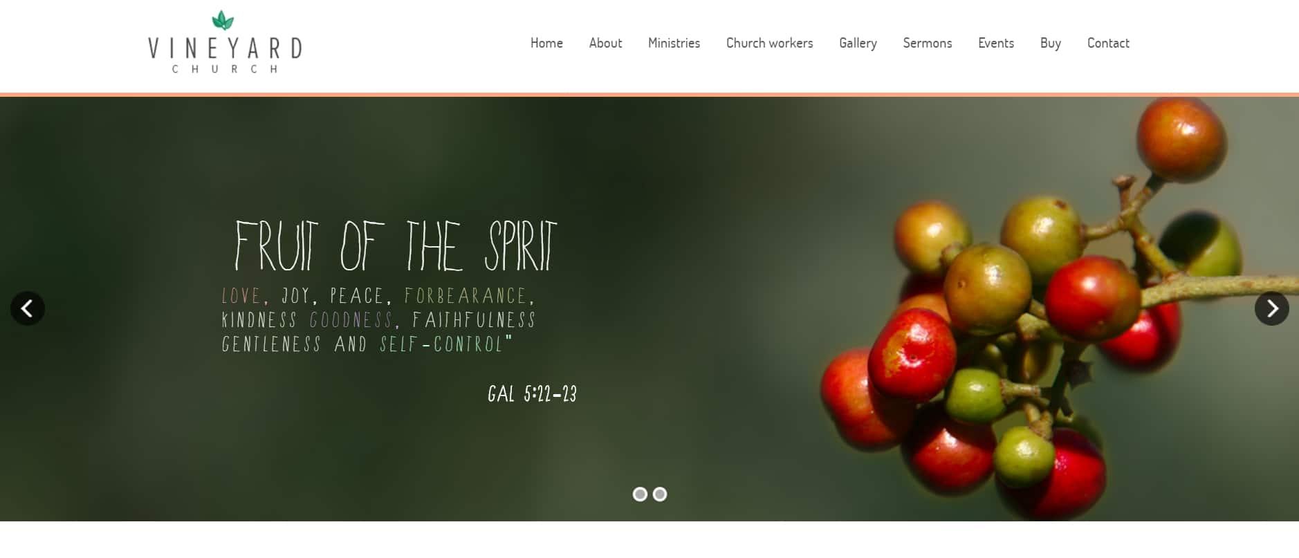 Vineyard Church website template