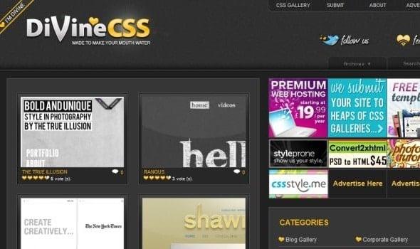 Divine CSS Gallery Website