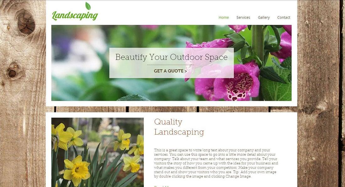Landscape Gardener Garden Website Templates