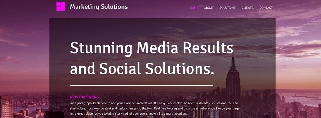 Marketing Strategy Website Template _ WIX