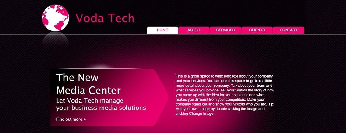 Media Marketing. Website Template _ WIX