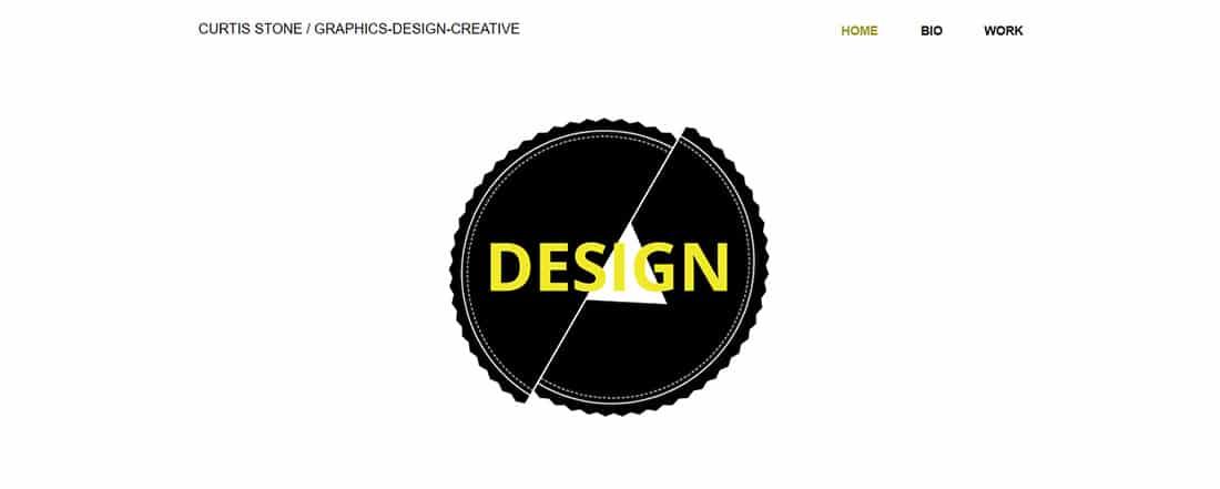 Graphic Design Website Template _ WIX
