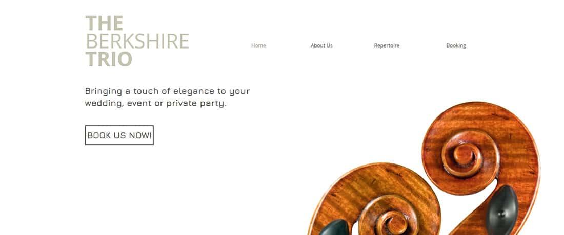 Classical Trio Website Template WIX