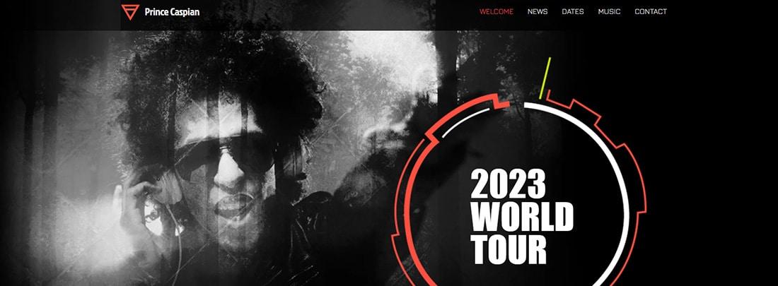 DJ Electronica Website Template WIX