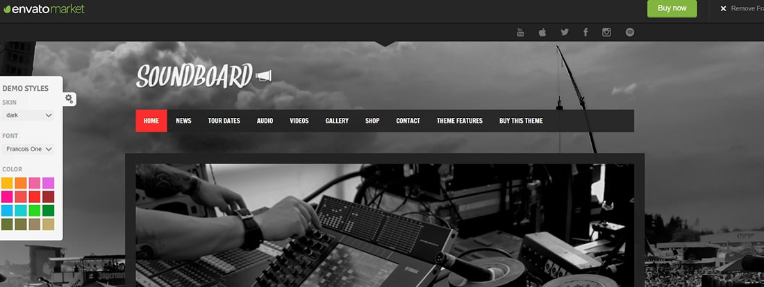 Soundboard - a Premium Responsive Music WordPress Theme Preview - ThemeForest
