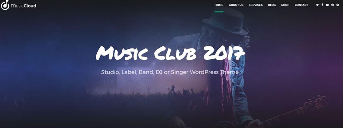 Music Club Nightlife Website Templates