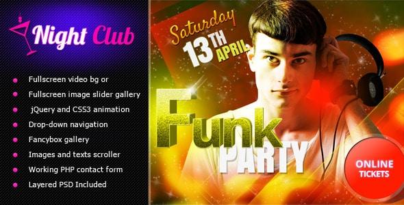Night club Nightlife Website Templates