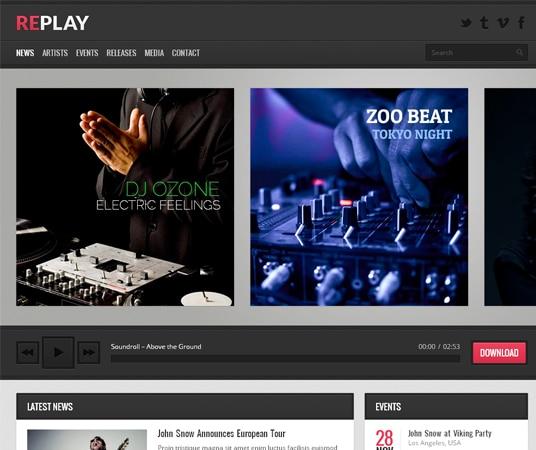 Replay Nightlife Website Templates