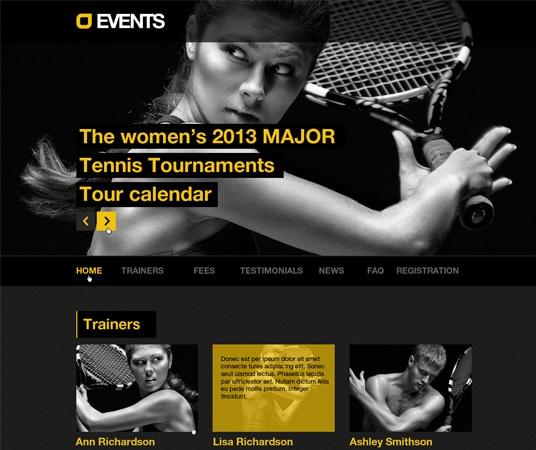 Events Music, Sport, Techno theme