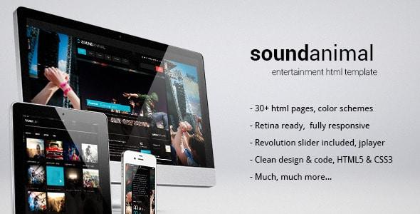 Sound animal Nightlife Website Templates