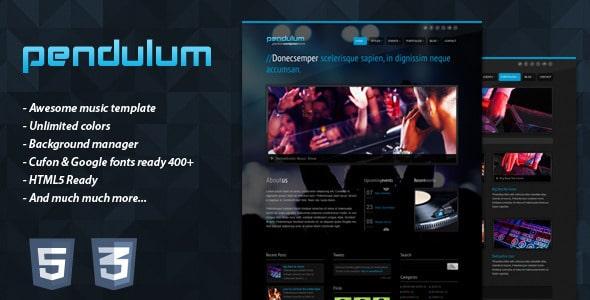 PENDULUM Nightlife Website Templates