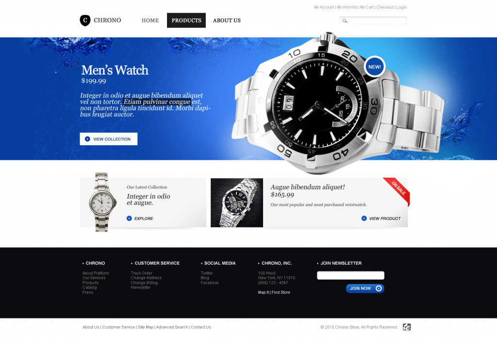 Chrono ecommerce template premium