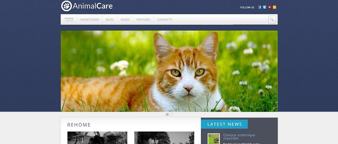 Animal Care WordPress Template