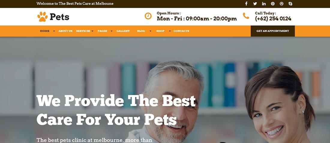 PETS Website Template / WP Theme