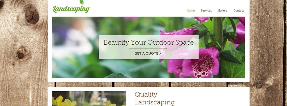 Landscape Gardener Website Template _ WIX
