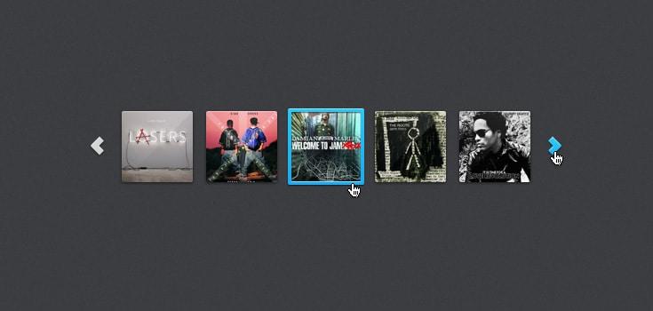 Album Cover Art Carousel (PSD)