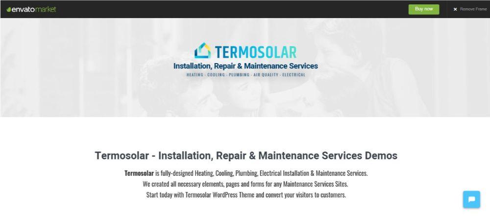 Termosolar - Maintenance Services WordPress Theme