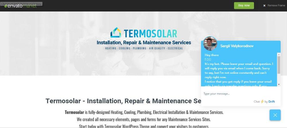 Tremosolar Maintenance WordPress Theme