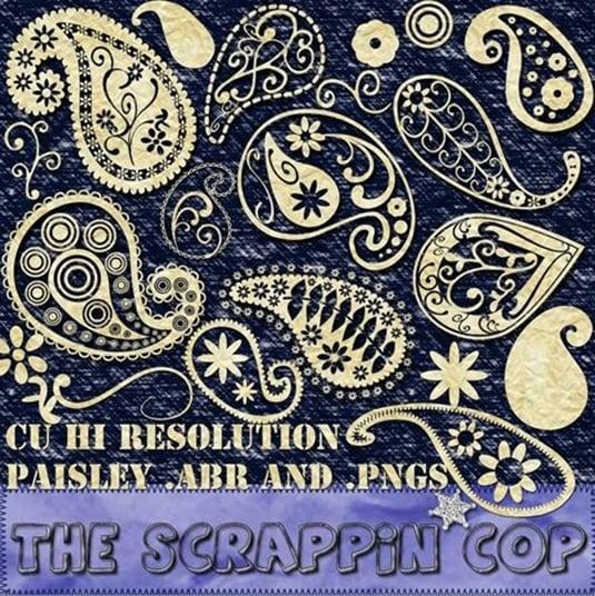 Funky Paisley Brushes