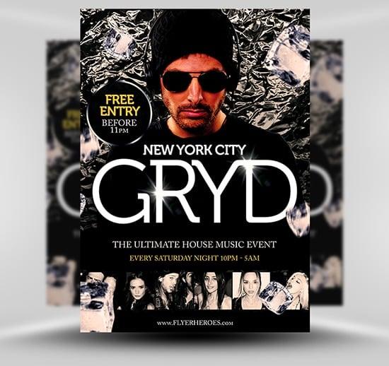 Gryd DJ Flyer Template