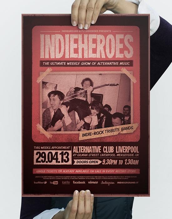 IndieHeroes Flyer Template