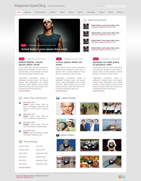 Magazine Styled Blog Layout