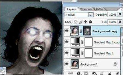 Halloween Photo Effect The Evil Eye
